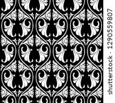 gothic floral seamless pattern. ... | Shutterstock .eps vector #1290559807