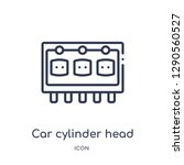 linear car cylinder head icon... | Shutterstock .eps vector #1290560527