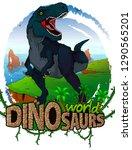 tyrannosaurus on the background ... | Shutterstock .eps vector #1290565201