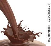 chocolate milk splash and...   Shutterstock . vector #1290566824