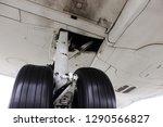 detail of landing gear of white ... | Shutterstock . vector #1290566827