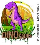 tyrannosaurus on the background ... | Shutterstock .eps vector #1290570877