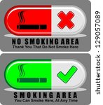 no smoking area  icon vector | Shutterstock .eps vector #129057089
