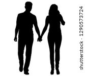 couples man and woman... | Shutterstock . vector #1290573724