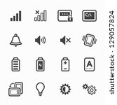 icons for mobile phone with... | Shutterstock .eps vector #129057824