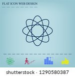 pictograph of atom | Shutterstock .eps vector #1290580387