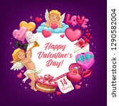 valentines day love holiday... | Shutterstock .eps vector #1290582004