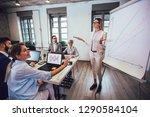 business team meeting working... | Shutterstock . vector #1290584104