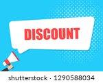 male hand holding megaphone...   Shutterstock .eps vector #1290588034