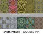 collection of seamless patterns.... | Shutterstock .eps vector #1290589444