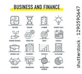 business and finance l ne icon... | Shutterstock .eps vector #1290590647