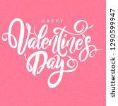 happy valentine's day lovely... | Shutterstock .eps vector #1290599947