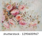 Oil Painting  Roses  Flowers