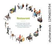 restaurant cafe or bar... | Shutterstock .eps vector #1290601954