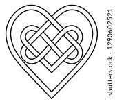 celtic knot rune bound hearts...   Shutterstock .eps vector #1290602521