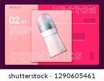 vector 3d realistic deodorant...   Shutterstock .eps vector #1290605461