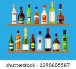alcohol drinks collection.... | Shutterstock .eps vector #1290605587