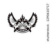 Fire Fighter Logo Design Vector ...