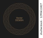 monogram line vintage frame.... | Shutterstock .eps vector #1290611827