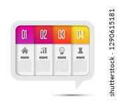 infographics design element.... | Shutterstock .eps vector #1290615181