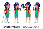 asian girl kid poses vector.... | Shutterstock .eps vector #1290620011