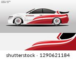 wrap car racing designs vector .... | Shutterstock .eps vector #1290621184