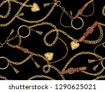 seamless pattern with belts ... | Shutterstock .eps vector #1290625021
