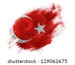 Turkey. Turkish Flag  Painted...