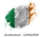 ireland. irish flag  painted... | Shutterstock . vector #129062909
