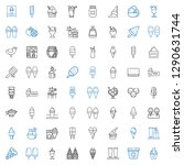 flavor icons set. collection of ... | Shutterstock .eps vector #1290631744