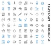 pot icons set. collection of... | Shutterstock .eps vector #1290633451