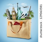 illustration of a bag full of... | Shutterstock . vector #129063581