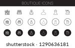 boutique icons set. collection... | Shutterstock .eps vector #1290636181