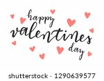 happy valentines day hand... | Shutterstock .eps vector #1290639577