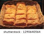 freshly baked bread in a basket ...   Shutterstock . vector #1290640564