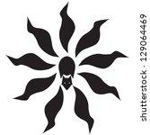 nine tailed fox tattoo | Shutterstock .eps vector #129064469