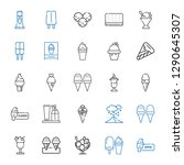 frozen icons set. collection of ... | Shutterstock .eps vector #1290645307