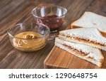 a peanut butter and jelly... | Shutterstock . vector #1290648754