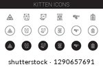 kitten icons set. collection of ...   Shutterstock .eps vector #1290657691