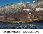 beautiful mountainous scenery... | Shutterstock . vector #1290660691