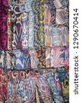 uzbek ornaments on fabrics | Shutterstock . vector #1290670414