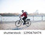 hipster businessman commuter...   Shutterstock . vector #1290676474