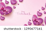 happy valentines day greeting...   Shutterstock .eps vector #1290677161