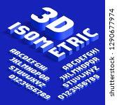 3d isometric alphabet font. 3d... | Shutterstock .eps vector #1290677974