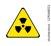 nuclear radiation warning sign.