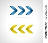 set of two beauty arrows made... | Shutterstock .eps vector #129068051
