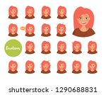 woman with different emotions.... | Shutterstock .eps vector #1290688831