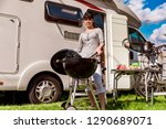 family vacation travel rv ... | Shutterstock . vector #1290689071