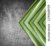 abstract green arrows on the... | Shutterstock .eps vector #129068939