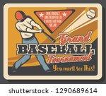batter on baseball sport match  ...   Shutterstock .eps vector #1290689614